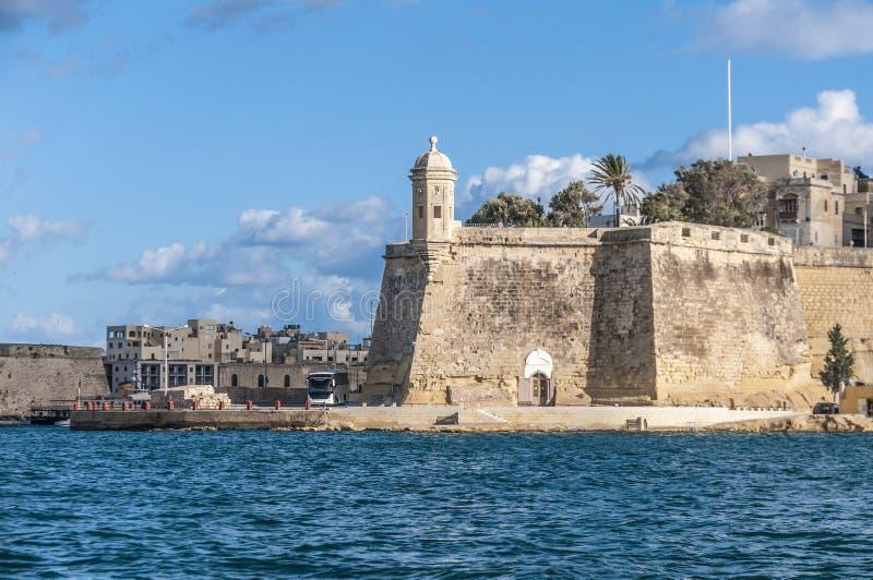 Fort Świątobliwy Michael w Senglea, Malta zdjęcie royalty free