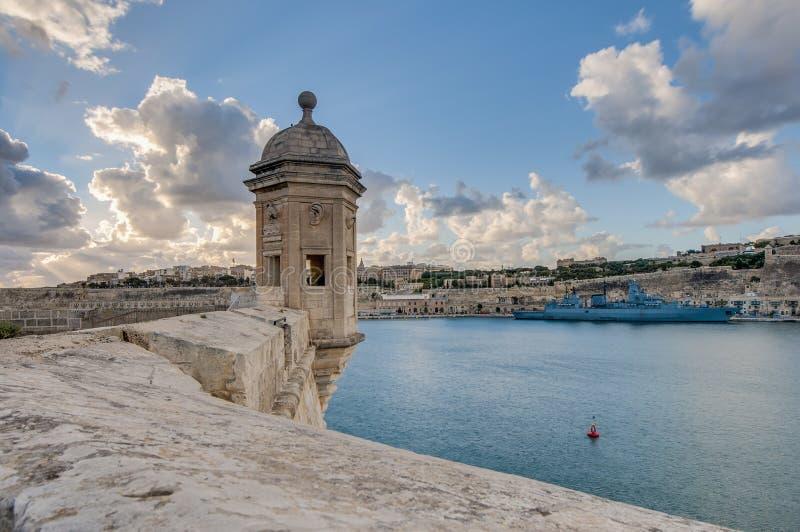 Fort Świątobliwy Michael w Senglea, Malta fotografia royalty free
