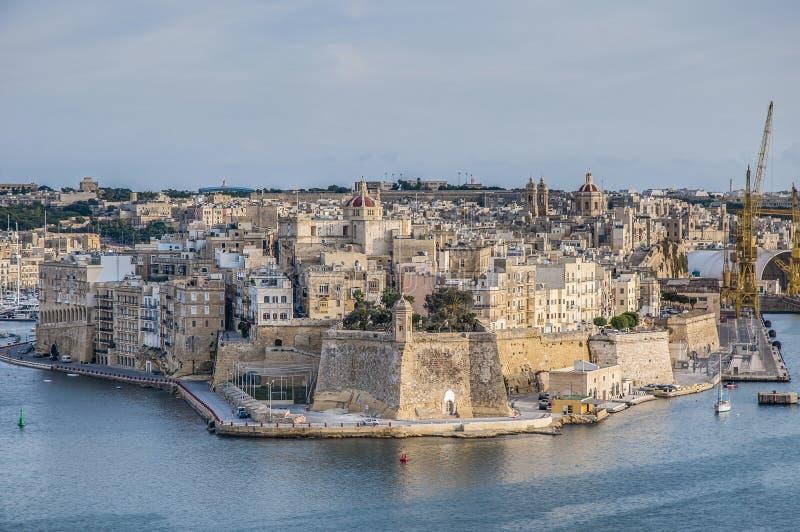 Fort Świątobliwy Michael w Senglea, Malta obraz stock