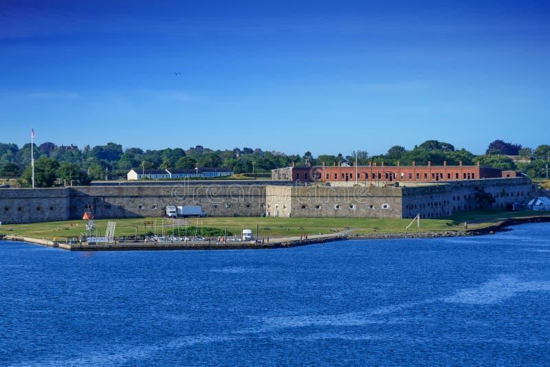 Fort Adams na Jasnym dniu fotografia stock