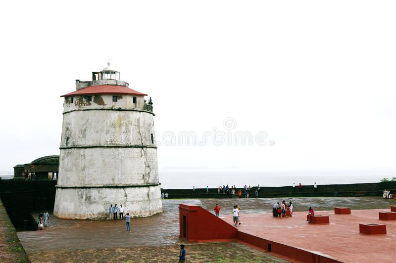 Fort Aguada is a well-preserved seventeenth-century Portuguese f stock images