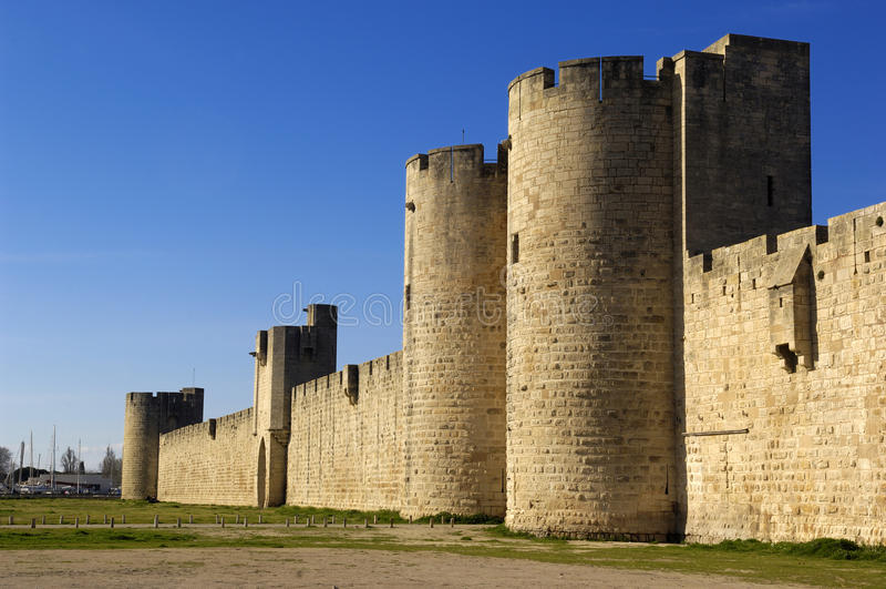 Fort Aigues-Mortes, Camargue obrazy stock