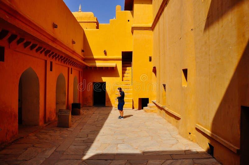 fort ambre Inde Jaipur photographie stock libre de droits