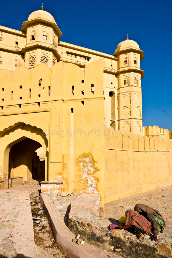 Fort ambre, Jaipur, Inde. images stock