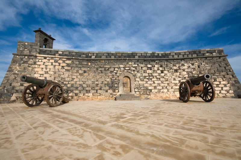 Fort in Arrecife royalty free stock images