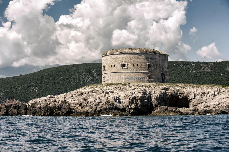 Fort Arza, Zanjic, Boka Kotorska Bay, Montenegro. Photo of Fort Arza, Zanjic, Boka Kotorska Bay, Montenegro stock photos