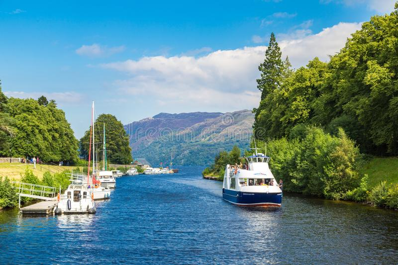 Fort Augustus and Loch Ness royalty free stock photography