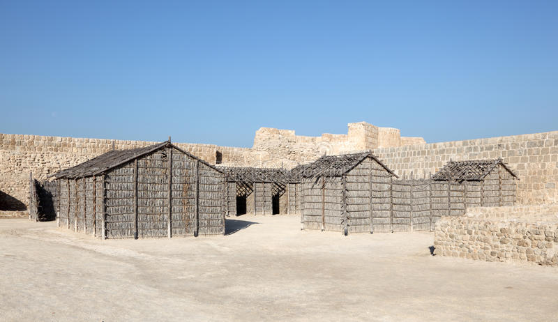 Fort av Bahrain i Manama, Bahrain arkivbild