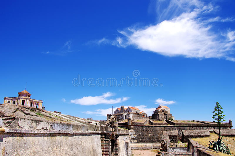 Fort av Graça, Elvas royaltyfri bild