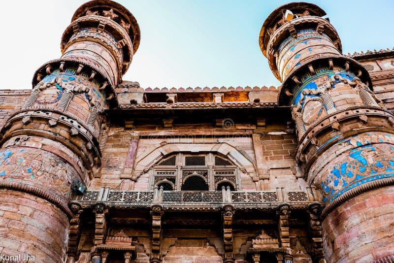 Fort av gwalior royaltyfri fotografi