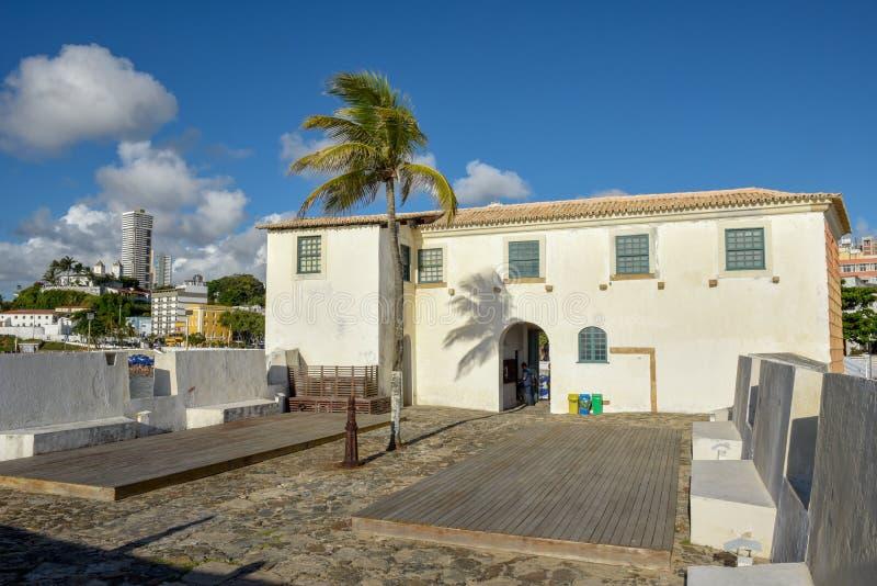 Fort av Santa Maria i Salvador Bahia, Brasilien arkivbilder