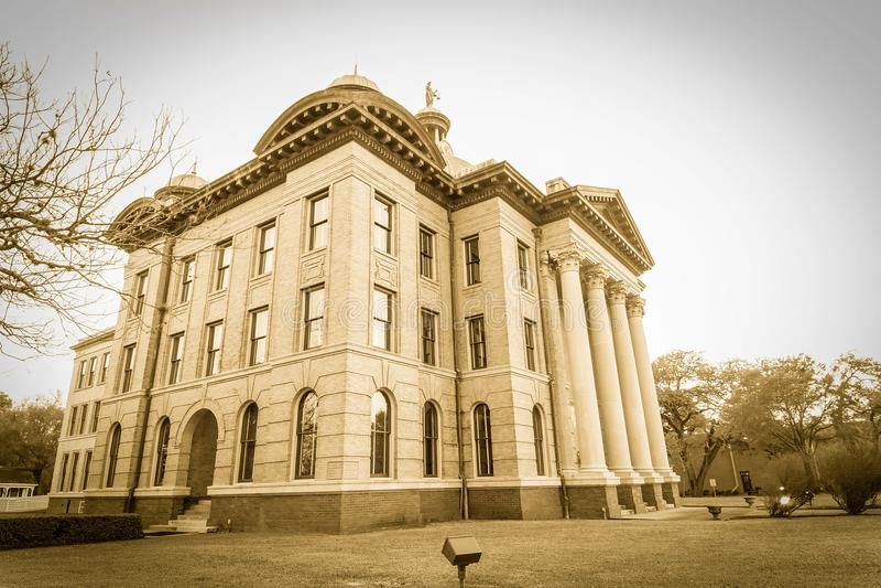 Fort Bend县法院大楼晚冬 库存图片