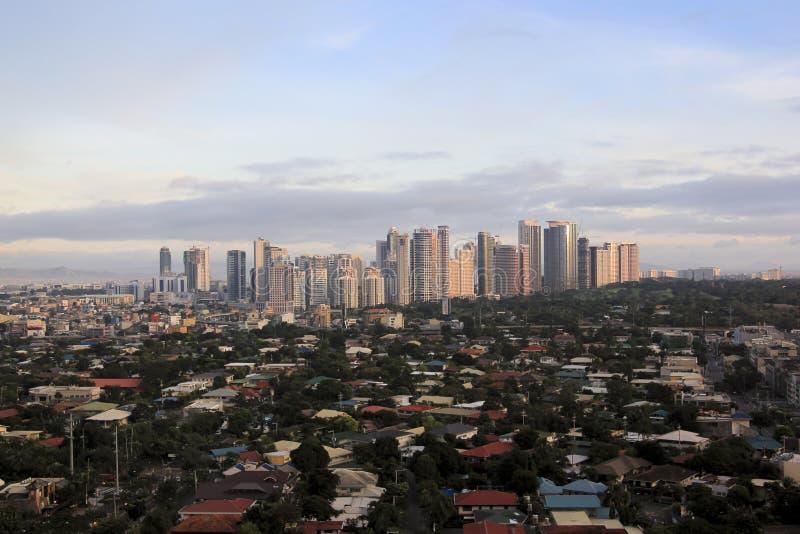 Fort bonifacio Skyline Manila Philippinen lizenzfreie stockfotos