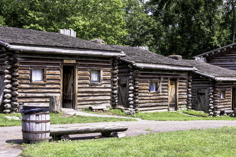 Fort Boonesborough royaltyfria bilder