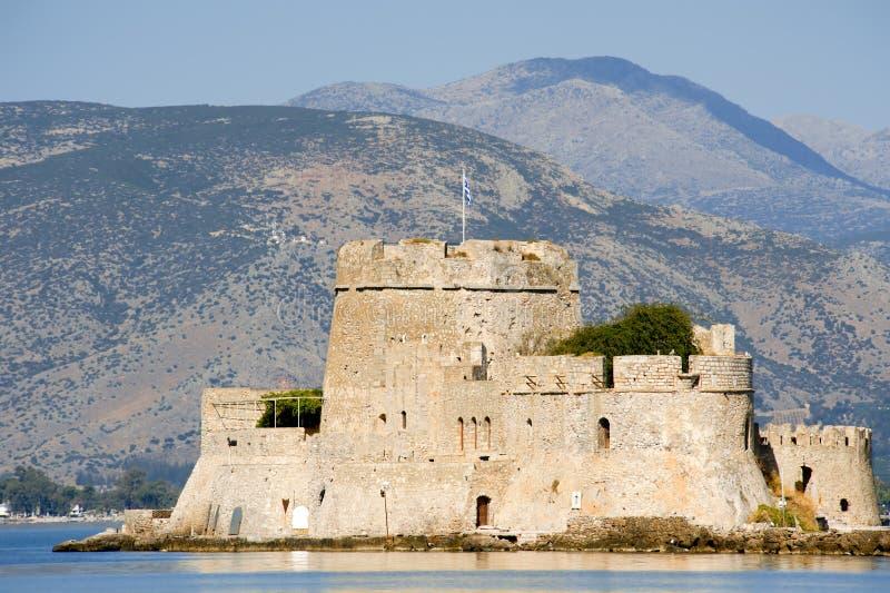 Fort Bourtzi w mieście Nafplio zdjęcie royalty free