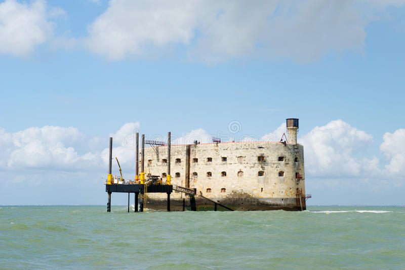 Fort Boyard в франция стоковые изображения rf