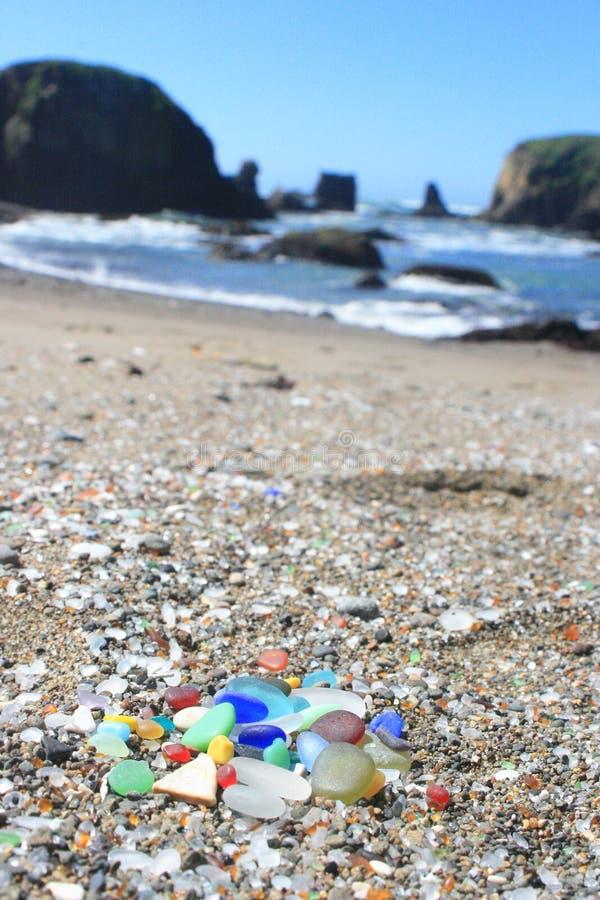 Fort Bragg California Sea Glass Rainbow royalty-vrije stock foto