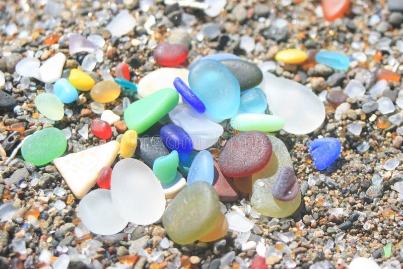 Fort Bragg California Sea Glass Rainbow stock foto