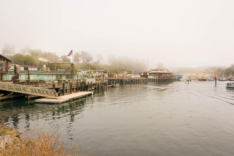 Fort Bragg, il fiume di Noyo, California fotografia stock libera da diritti
