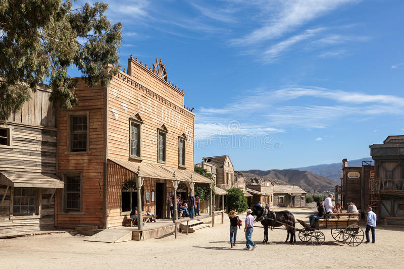 Fort Bravo Cinema Studios in Spain royalty free stock images