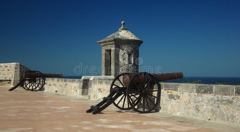Download Fort in Campeche stock photo. Image of castle, rusty, iron - 5008650