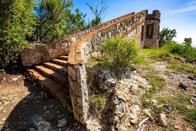 Fort Capron in de toneelaantrekkelijkheid van Guanica Puerto Rico royalty-vrije stock afbeelding