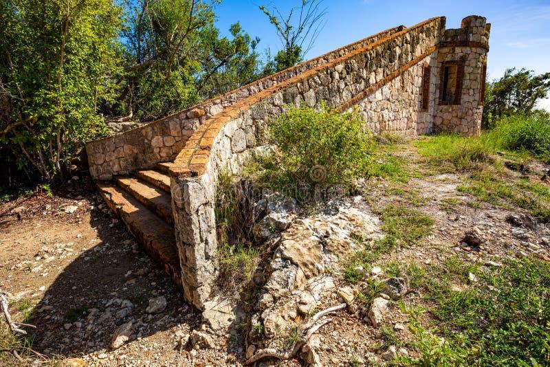 Fort Capron in de toneelaantrekkelijkheid van Guanica Puerto Rico royalty-vrije stock fotografie