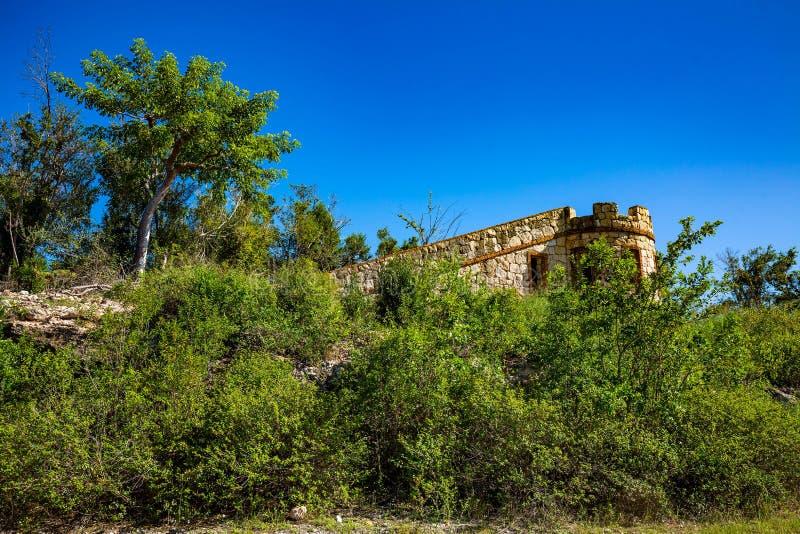 Fort Capron w Guanica Puerto Rico scenicznym przyciąganiu obrazy stock