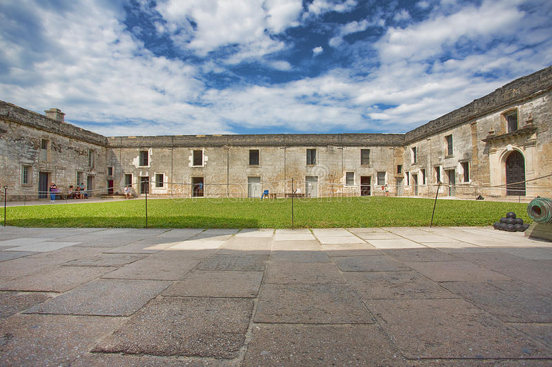 Fort Castillo, St Augustine, Florida stockbilder