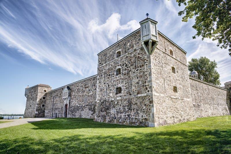 Fort Chambly, krajowy historyczny miejsce zdjęcie royalty free
