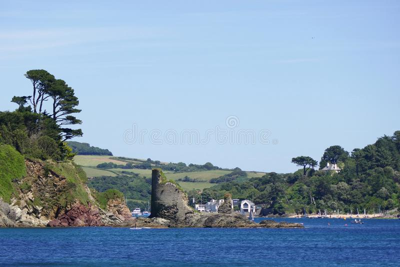 Fort Charles, Salcombe, Devon, stockbilder