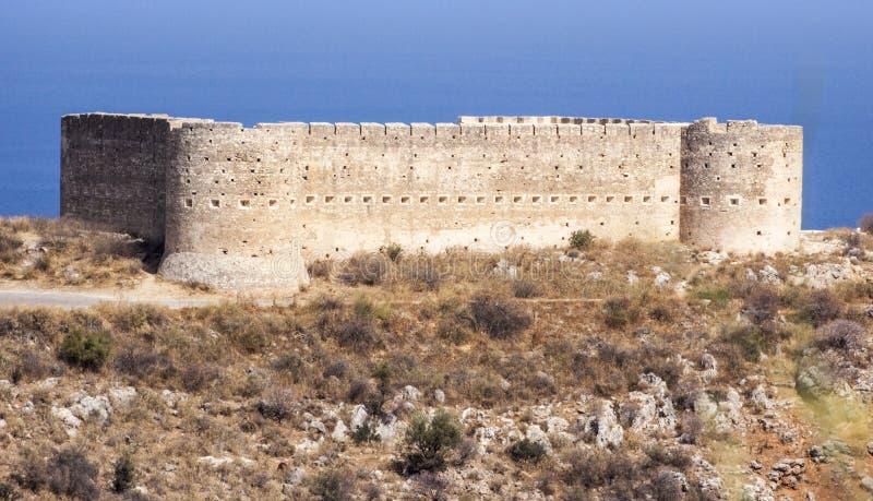 Fort chez Aptera, Crète image libre de droits