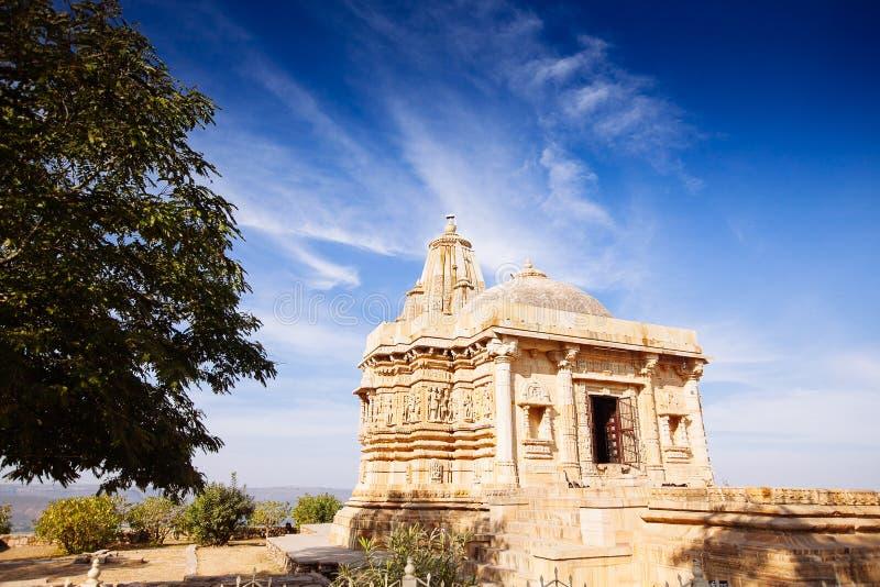 Fort Chittorgarh i Indien Rajasthan Kirti Stambha arkivbilder