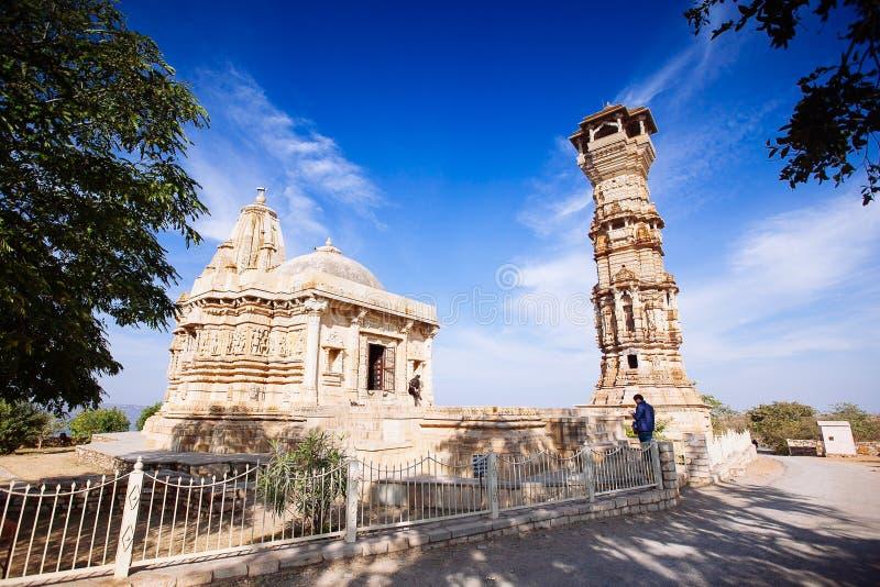 Fort Chittorgarh in India Rajasthan Kirti Stambha royalty-vrije stock foto's