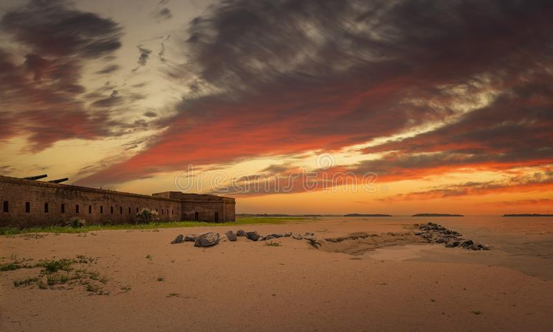 Fort Clinch stock image
