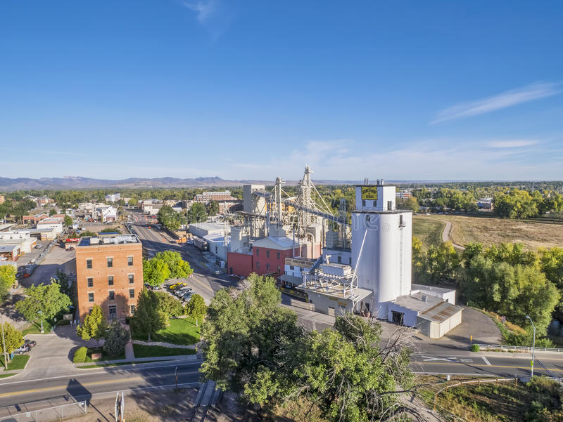 Fort Collins aerial view royalty free stock images