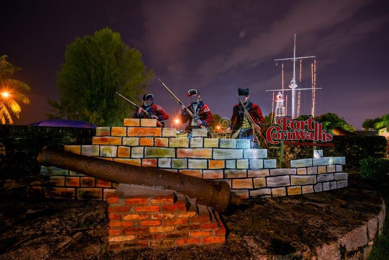 Fort Cornwallis à Georgetown images libres de droits