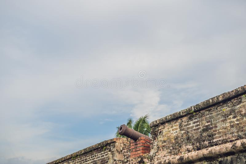 Fort Cornwallis in Georgetown, Penang, is a star fort built by the British East India Company in the late 18th century, it is the. Largest standing fort in stock images