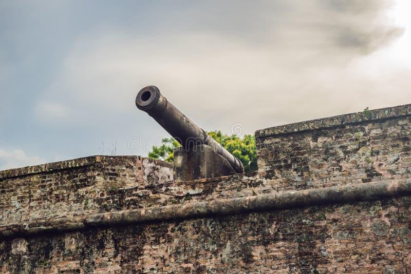 Fort Cornwallis w Georgetown, Penang, jest gwiazdowym fortem budującym Brytyjski Wschód India Firma w opóźnionym xviii wiek, ja j obrazy royalty free
