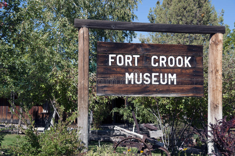 Download Fort Crook Museum Sign editorial stock image. Image of crook - 45508689