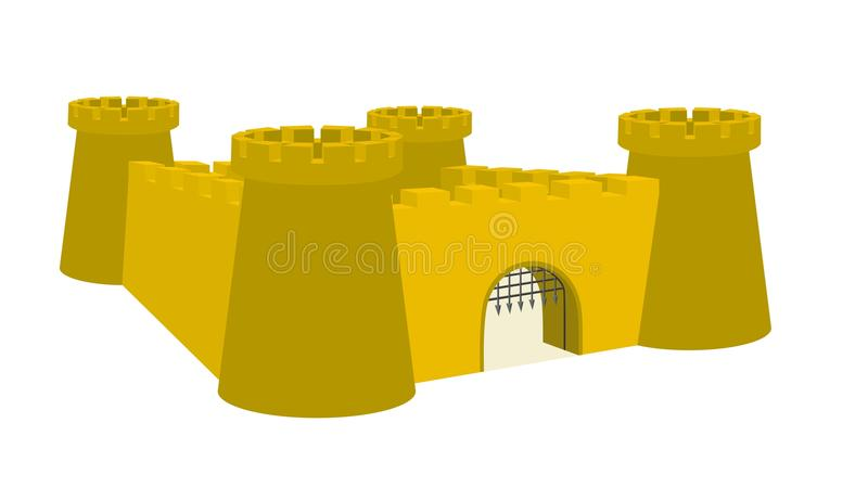Fort of custle royalty-vrije illustratie