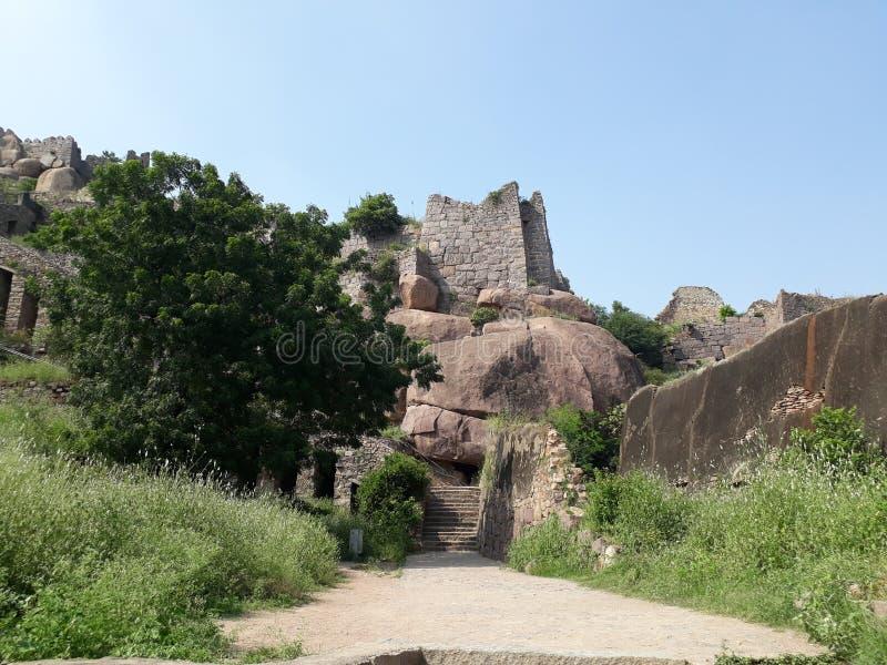 Fort d'Hyderabad Golconda, Inde photos stock