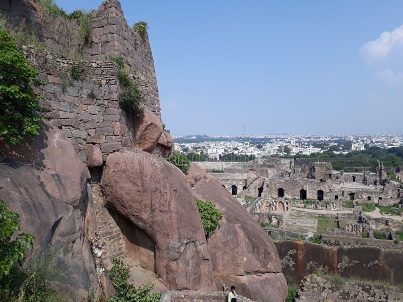 Fort d'Hyderabad Golconda, Inde photo libre de droits