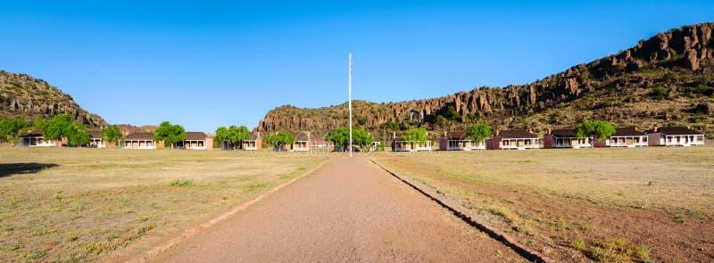 Fort-Davis-nationale historische Site stockbild