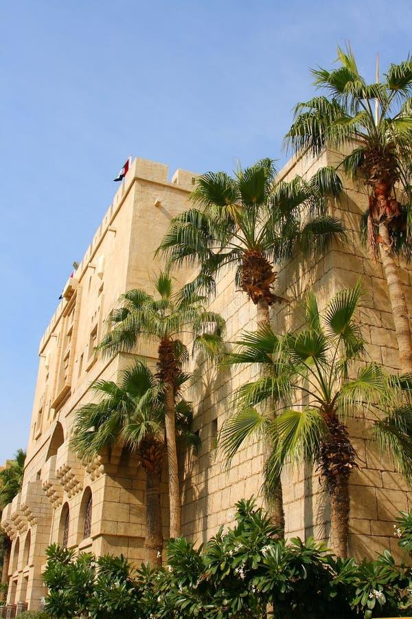 Fort de central de village d'héritage de Dubaï images libres de droits