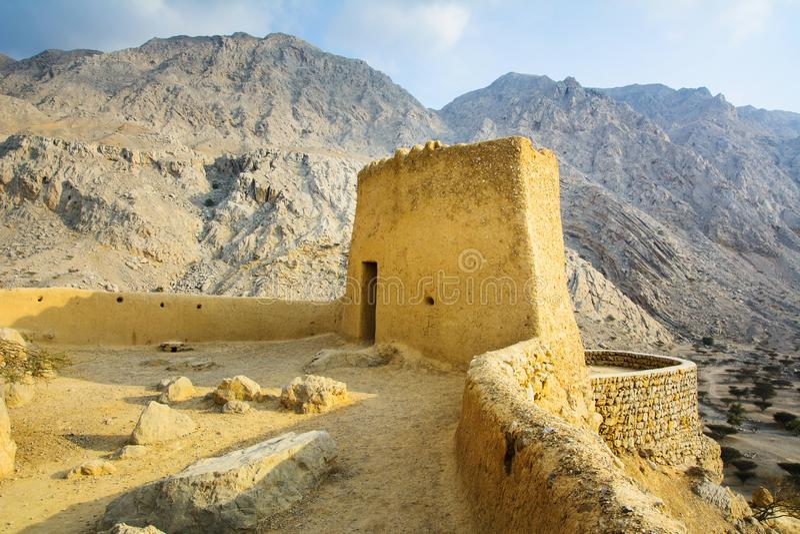 Fort de Dhayah dans Ras Al Khaimah United Arab Emirates du nord photos stock