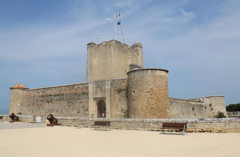 Fort de Fouras-les-Bains ( France ). Fort Fouras or Semaphore of Fouras is the medieval castle of Fouras, small town on Aunis in the department of Charente stock photography