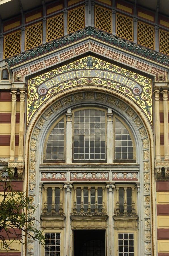 Fort de France, bibliothèque de Schoelcher photo libre de droits