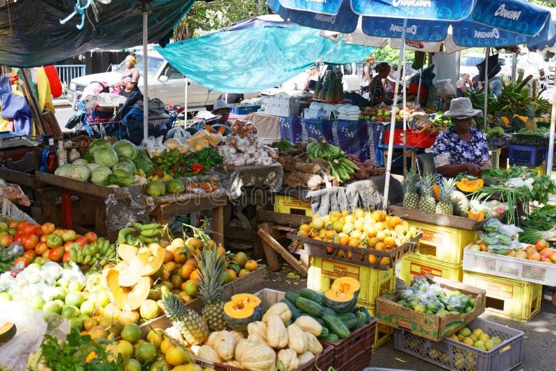 Fort de France Market - Martinique Caribbean island royalty free stock photo