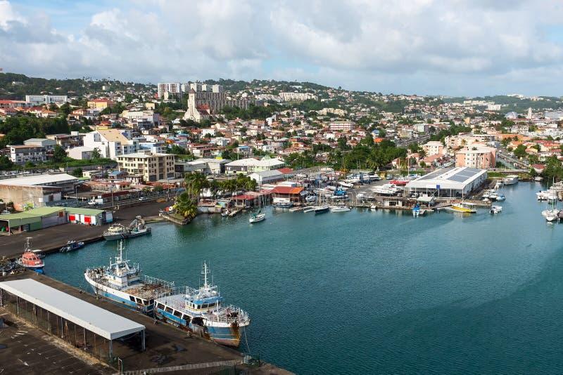 Fort de France in Martinique stock afbeelding